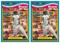 (2) 1988 Topps Toys R' Us Rookies Baseball 5 Ellis Burks Lot Boston Red Sox