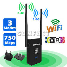750Mbps Wireless Dual Band 2.4GHz 5GHz WiFi Repeater Booster US CF-WR750AC YIUS