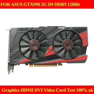 FOR ASUS GTX950 2G D5 DDR5 128Bit Graphics HDMI DVI Video Card 100% Test Work