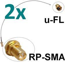 2x Antennen Adapter Kabel RP-SMA u-FL Stück RPSMA -> uFL Fritz!Box Pigtail IPX