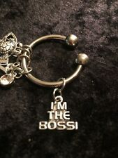 """""""I'M THE BOSS"""" Motivational Weight Loss Charm for Weight Watchers Ring"""