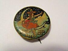 Antique Miller High Life Beer Advertising Beer Pin Pinback > Whitehead & Hoag Co