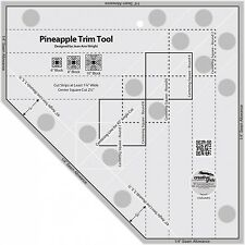 PINEAPPLE TRIM TOOL RULER~CREATIVE GRIDS~FOR 6,8,OR 10 INCH BLOCKS~CGRJAW3