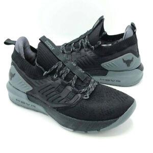 Under Armour Mens Size 9.5 Black Project Rock 3 Training Shoes 3023004-001 Gym