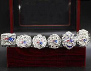 6 Pcs 2001 2003 2004 2014 2016 2018 New England Patriots Championship Ring !