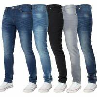 Kruze Hommes Extensible Skinny Jeans Slim Flexible Pantalon Tailles