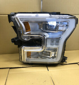 Left LH Driver Side Chrome Headlight Factory Lamp Assembly for 18-20 Ford F150