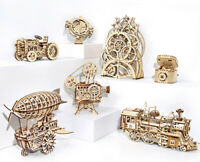 ROKR Laser-Cut 3D Puzzle Wooden Mechanical Model Construction Project Toy Kits