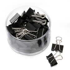 Black 24pcs/Box 41mm Width Binder Clips File Paper Clip Binding Office Tools - L