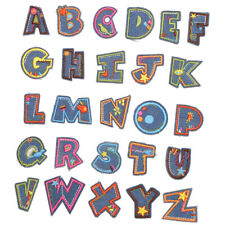 Iron on Letter Patches Alphabet Applique Patches or Sew on Appliques for Hats