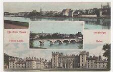 Kelso, River Tweed & Bridge / Floors Castle Postcard, B080