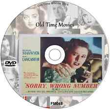Sorry Wrong Number - Barbara Stanwyck, Burt Lancaster DVD 1948