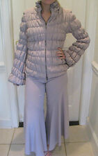 GIORGIO ARMANI Light Lavender / Gray Silk Pant Suit Size 46 And 40
