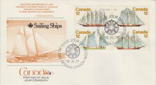 CANADA #744-747 12¢ SAILING VESSELS ON FLEETWOOD CACHET FIRST DAY COVER