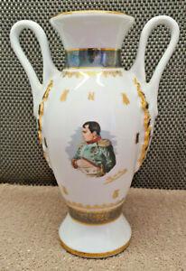 Antique Superb Vase Napoleon porcelaine de luxe Corsica N°623 Gilt Bee Handle