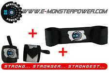 Black Monster size L + Black Wrist Wrap Bench Press Powerlifting like Slingshot