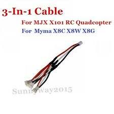 3in1 Battery Charging Cable for MJX X101 Syma X8c RC Quadcopter Drone Spare Part