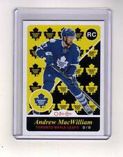 15/16 OPC Toronto Maple Leafs Andrew MacWilliam Retro Rookie card #533