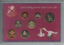 New Born Baby Girl Coin Ensemble Cadeau 2003 (Parent maman & papa naissance Keepsake Présent)