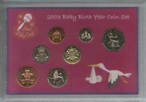 New Born Baby Girl Coin Gift Set 2003 (Parent Mum & Dad Birth Keepsake Present)