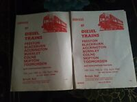 BR Train Services Timetable Pull Out Preston - Todmorden 1965/6 Collectable Rare