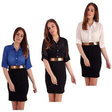 Polyester Business 3/4 Sleeve Dresses for Women