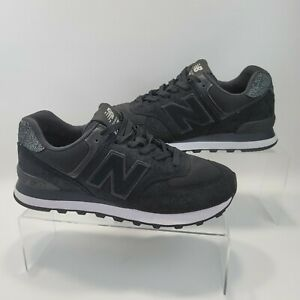 New Balance 574 WL574UJC Black Running Shoes Lace Up Low Top Women's Size 9 B
