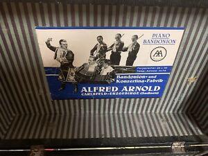 PIANO BANDONION  ALFRED ARNOLD ANTIK MUSIK INSTRUMENT ANTIK OLD, ALT, VINTAGE
