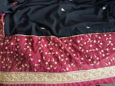 Red Maroon Black Gold Sari Saree Embroidery sequins ready wear stich blouse