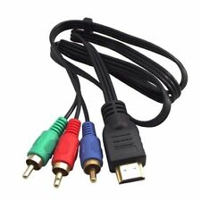 1M HDMI M Male to 3 RCA M Video Audio DV Converter Component AV Adapter Cable