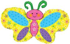 Spring Butterfly 42 Inch Supershape Foil Balloon