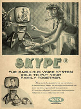 "Vintage Skype Ad, Photo Print 14 x 11"""