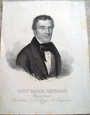 1858 RITRATTO INCISO DI GIUSEPPE MARIA EMILIANI FONDATORE COLLEGIO DI FOGNANO