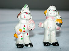 Lovely Pair of Antique Circus Clown Figurines