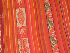 "Vintage Latin American Bolivian Wool Weaving Aymara Textile Poncho 40"" x 52"""