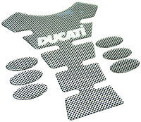 CARBON LOOK LOGO TANK PROTECTION PAD - DUCATI