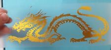 CHINESE DRAGON CAR WALL BEDROOM WINDOW DECALS STICKERS GOLD CHROME  COLOURS X2 A