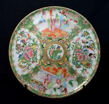 More details for antique chinese famille rose porcelain plate 19thc