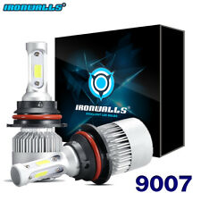 9007 HB5 LED Headlight Conversion Kit 1500W 225000LM High Low Beam Bulbs 6000K