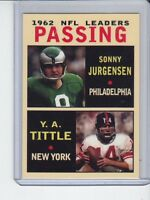 Sonny Jurgensen/Y A Tittle '62 NFL Passing Leaders rare MC Glory Days #3