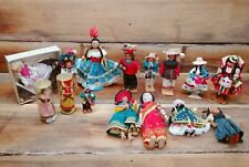 Vintage Ethnic Costume Display Doll -Lot of 15 Dolls 1920's - 1950's Collection