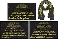 Star wars  EPISODE 6 Return of the Jedi OPENING CREDIT CRAWL PX SCARF  NEW!