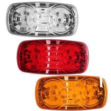 Truck Trailer Marker LED Light Double Bullseye Amber/Red 12LED Clearance Light