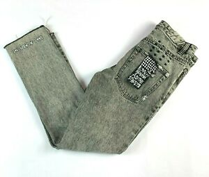"""Ksubi Chitch Chop Ash Scribble Grey Denim Men's Jeans Actual Size W28"""" L28"""""""