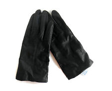 FOWNES Vintage LEATHER GLOVES Cashmere Lined Size 7 BLACK