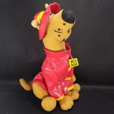 Scooby Doo Stuffed Plush Animal Dog Firefighter Uniform Red Hat Coat 11""