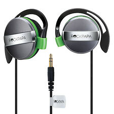 RockPapa On Ear Adults Boys Girls Kids Childs Earphones Headphones Black Green