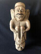 Cul-de-lampe très ancien en bois goût Moyen Âge