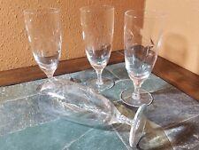 "4 Tiffin Franciscan ""Elmwood"" Iced Tea Glasses 7 1/8"""