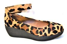 Sz 9 / 40 TS Taking Shape Leopard Ginger Wedge Comfy Wide-fit Shoes RP